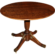 Renaissance Revival Oak Tilt Tea or Center Table circa 1870's
