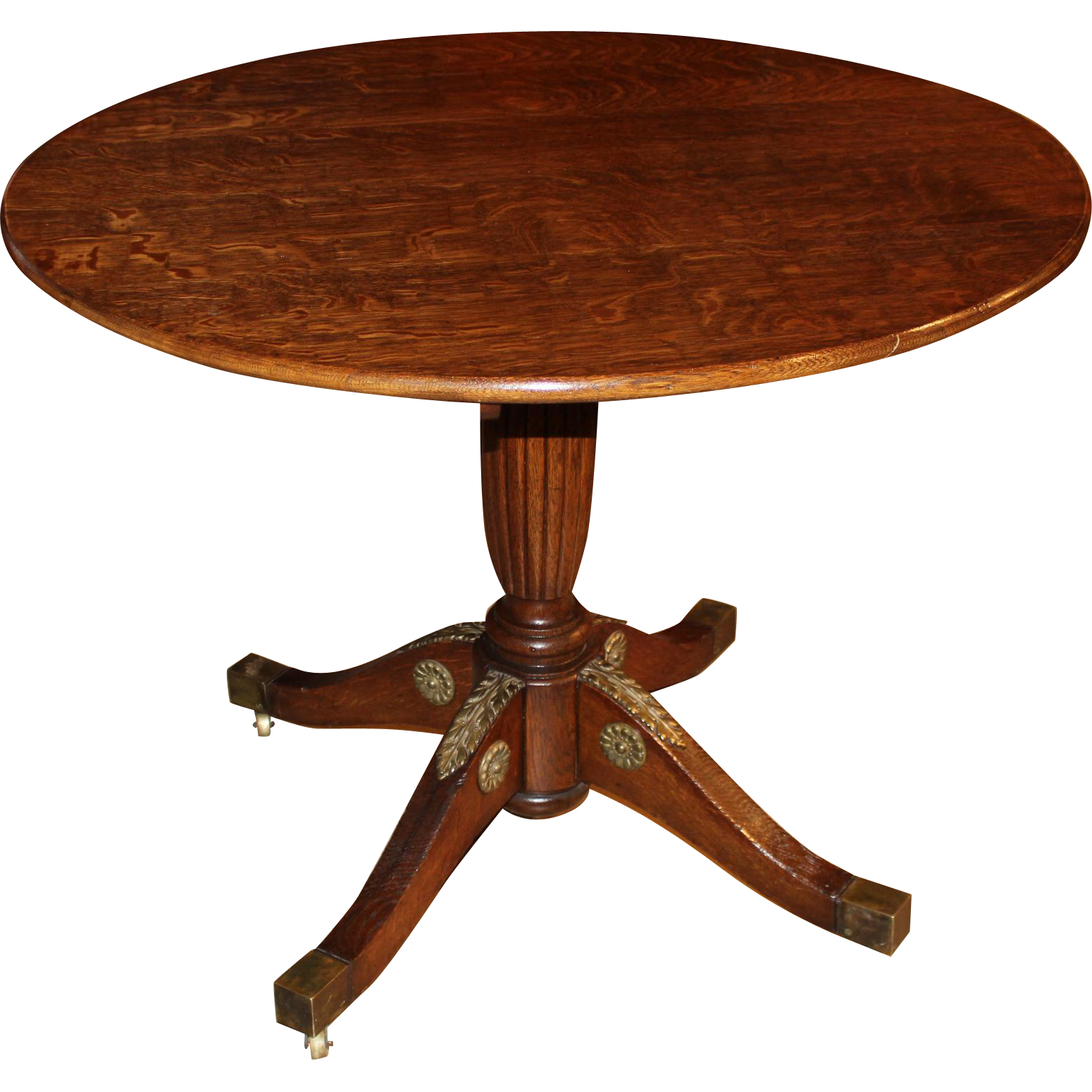 Renaissance Revival Oak Tilt Tea or Center Table circa 1870's