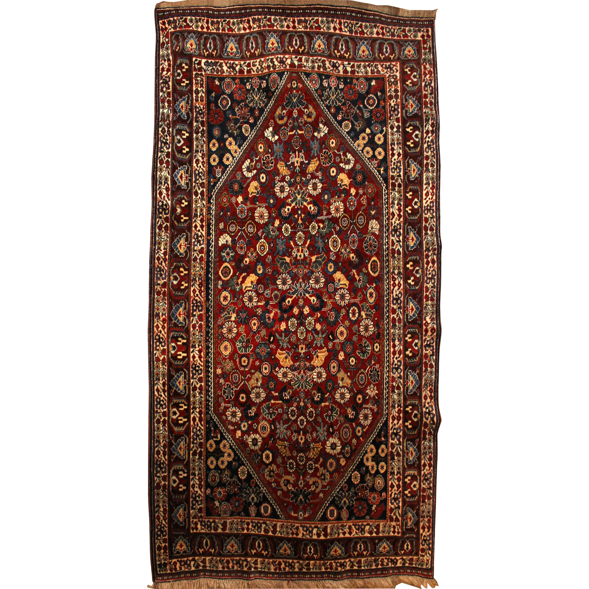 Kashkuli Scatter Rug or Carpet circa 1930