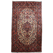 Ivory Keshan Scatter Rug or Carpet circa 1930