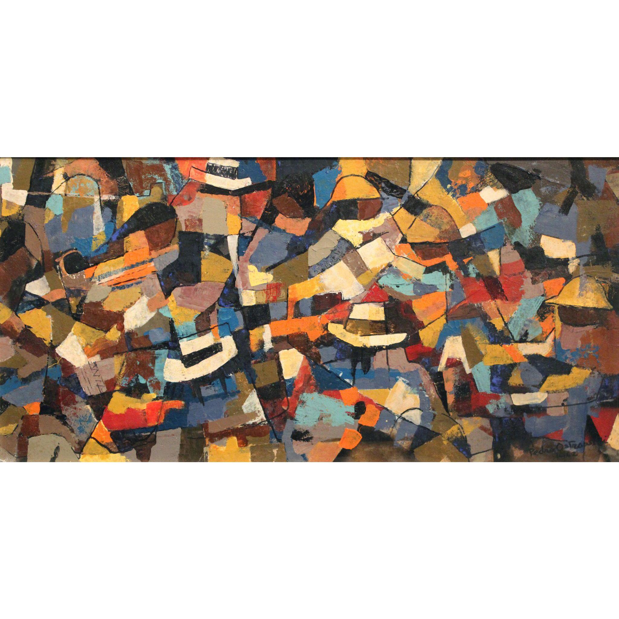 Peter Von Rawita-Ostrowski or Pedro Ostrowski Abstract Oil Painting - Mercado Serrano