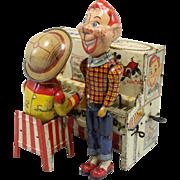 Howdy Doody & Buffalo Bob Smith Tin Wind Up Piano Toy Unique Art Mfg Co circa 1950's