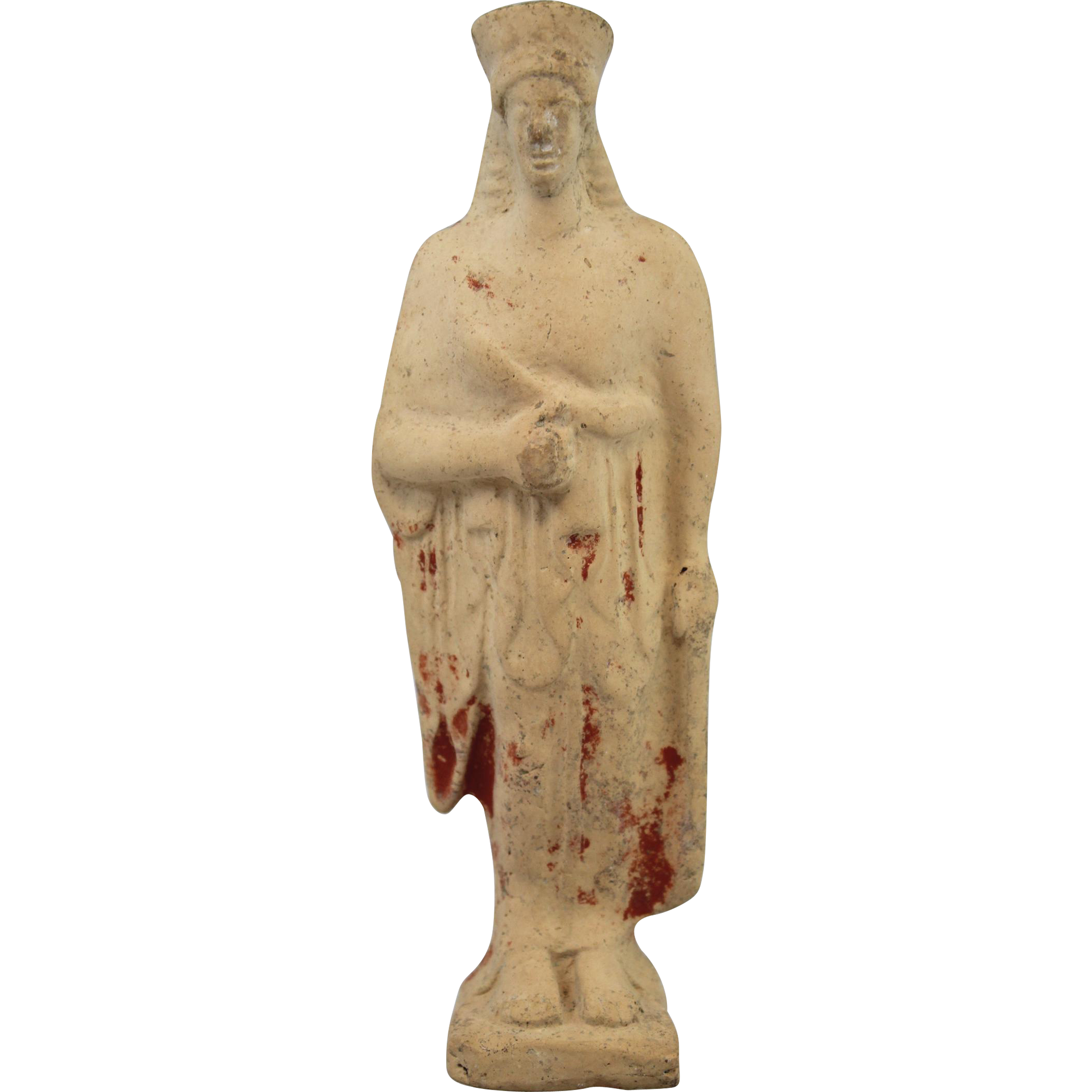 Greek Corinthian Standing Goddess Terracotta Figure circa 500-475 BC