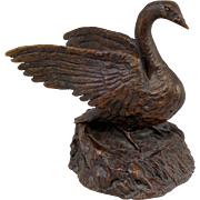 Barbara Faucher Signed Bronze Sculpture of a Goose NH