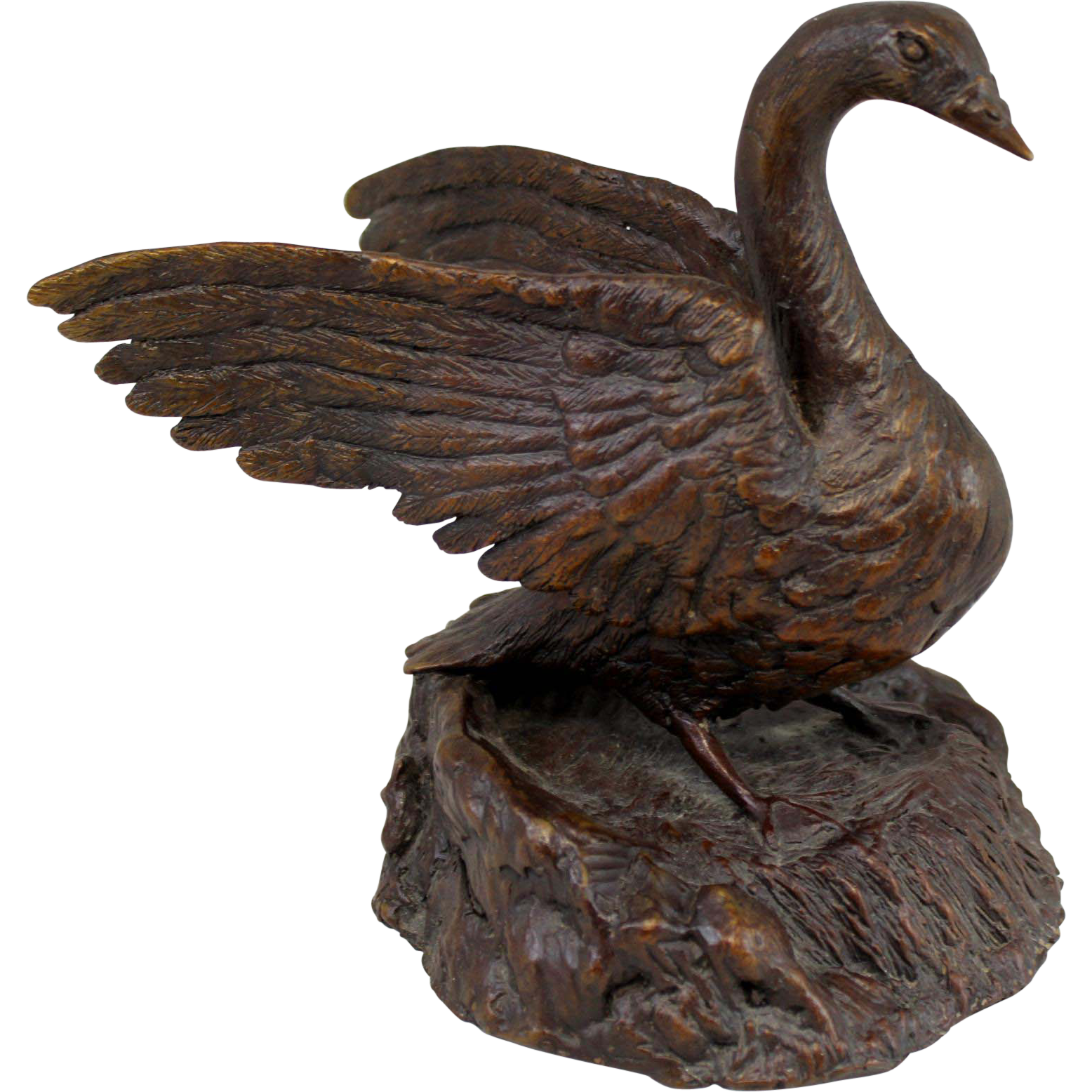Barbara Faucher Signed Bronze Sculpture of a Goose NH