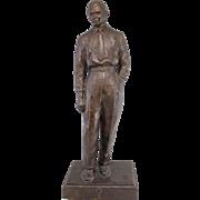 Mid Century Cast Bronze Sculpture of a Businessman