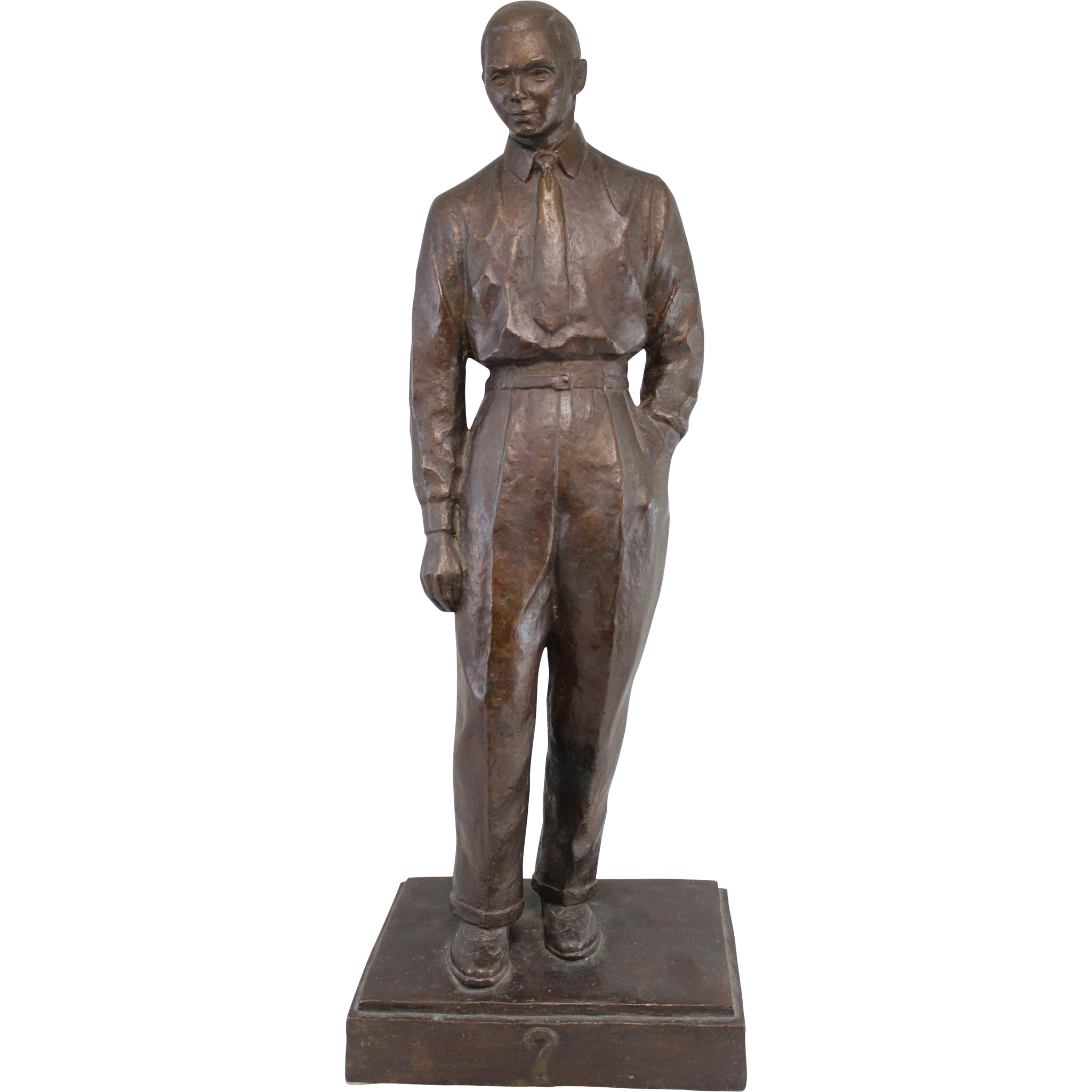 Mid Century Cast Bronze Sculpture of a Businessman