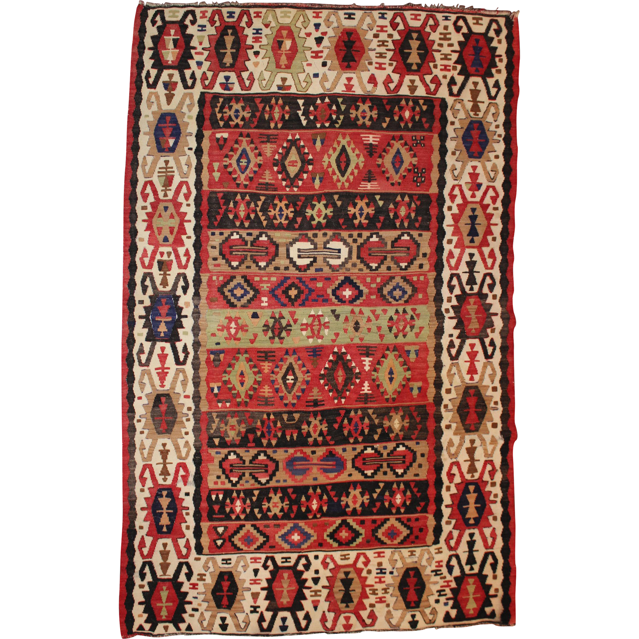 Early 20th c Persian Kilim Scatter Rug
