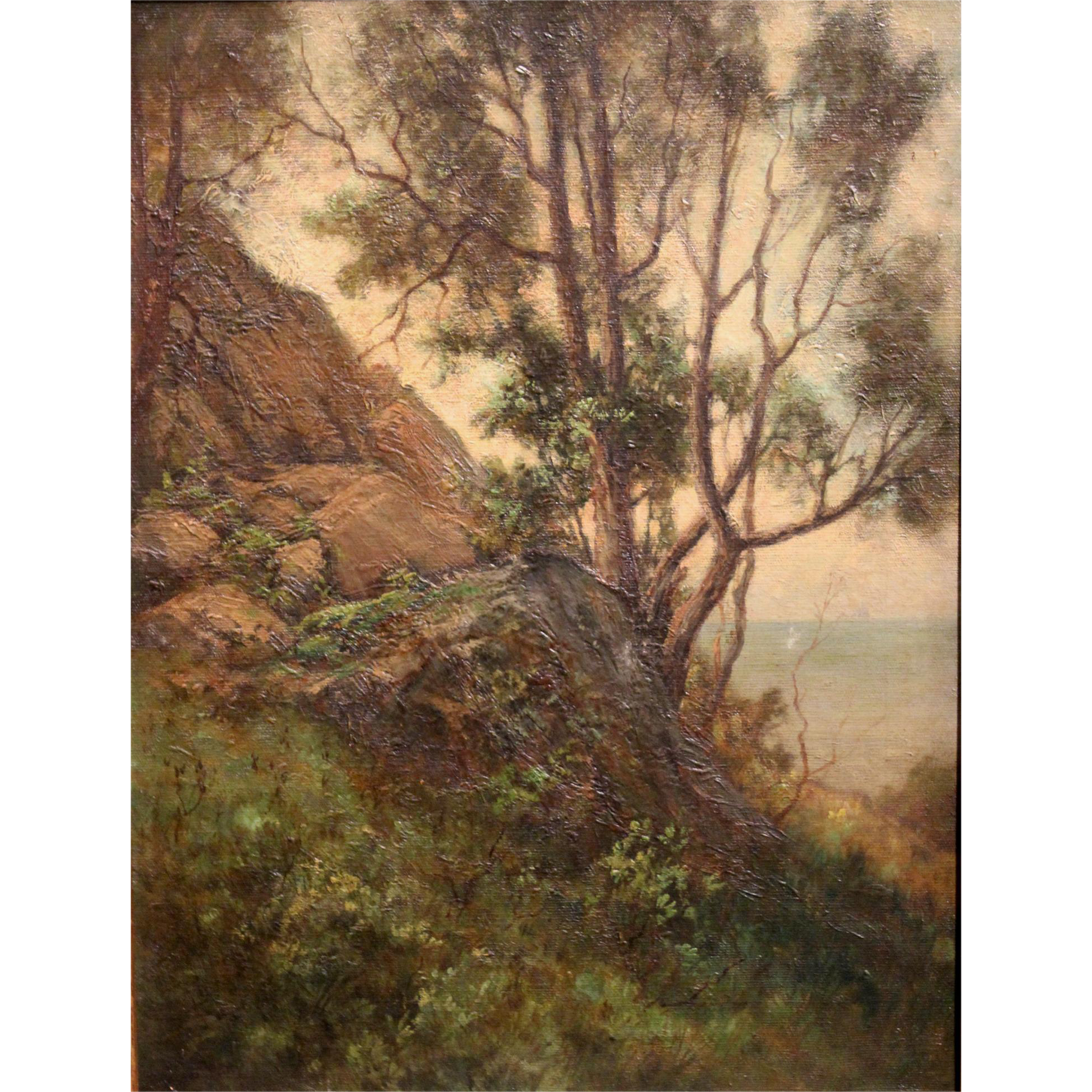 Frank Chester Perry Oil Painting Landscape - The Hillside, Waterford Conn.