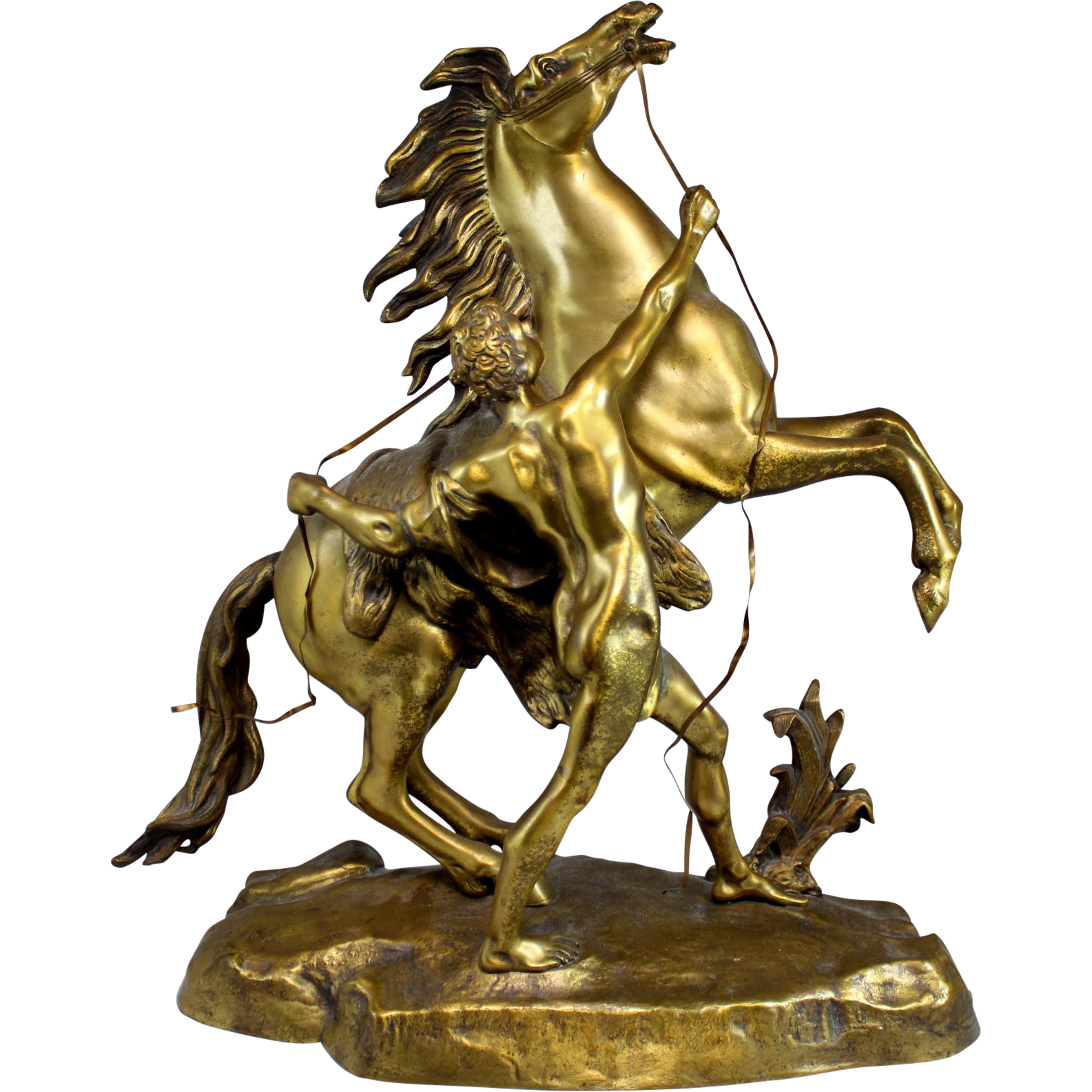 After Guillaume Coustou, Bronze of a Marly Horse Restrained by a Groom