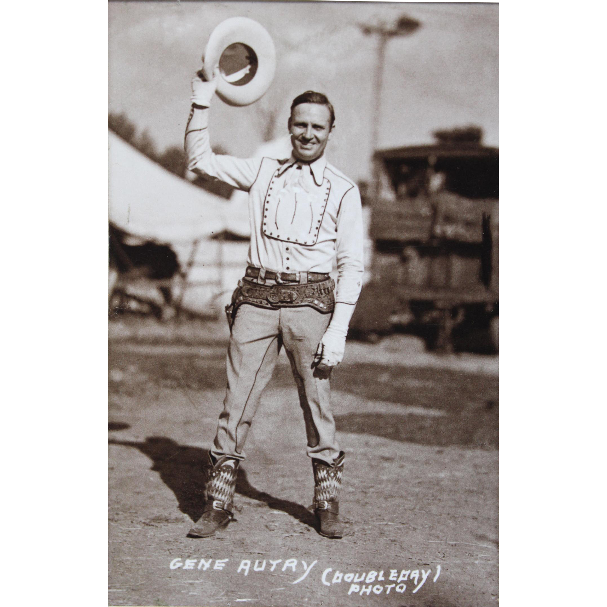 Sepia Tone Singing Cowboy Gene Autry Signed Photograph