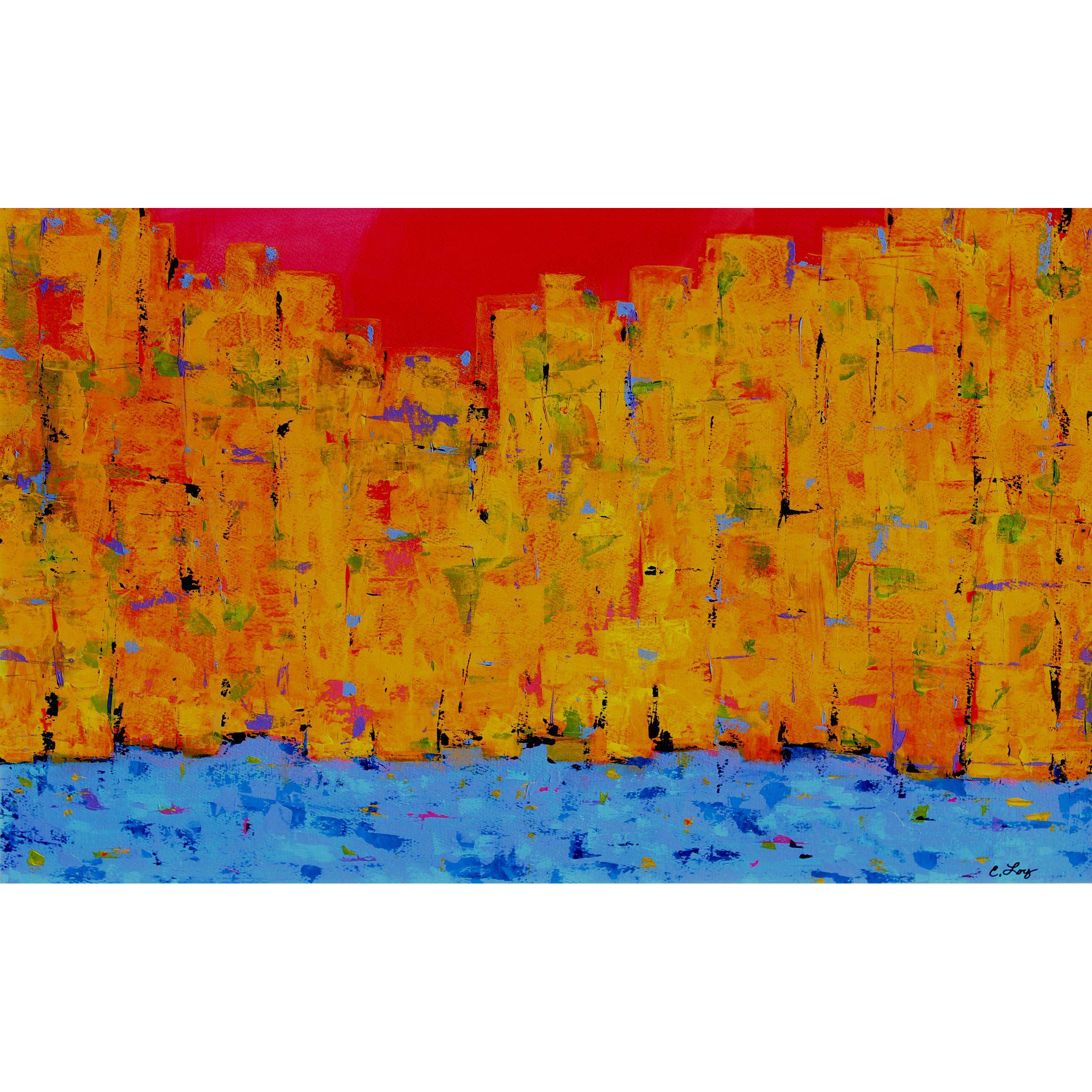 Eva-Lynn (Evie) Loy Abstract Modernist Painting - Spring In The City