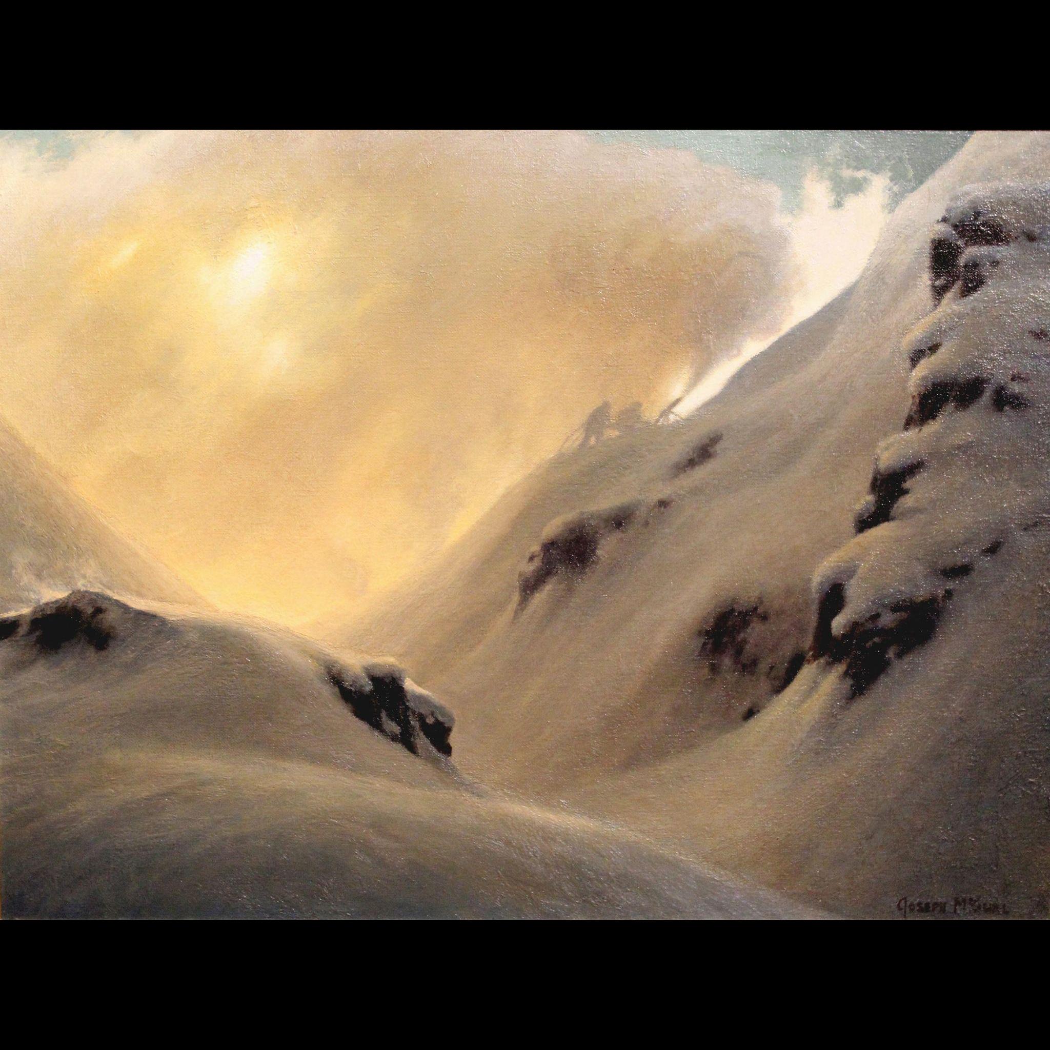 Joseph McGurl Mountainscape Oil Painting - The Snowmakers