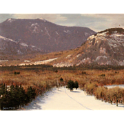 Joseph McGurl Landscape Oil Painting - Winter, Mt. Washington Valley NH