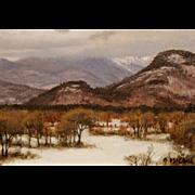 Joseph McGurl Plein Air Oil Painting - Mt. Washington Valley NH
