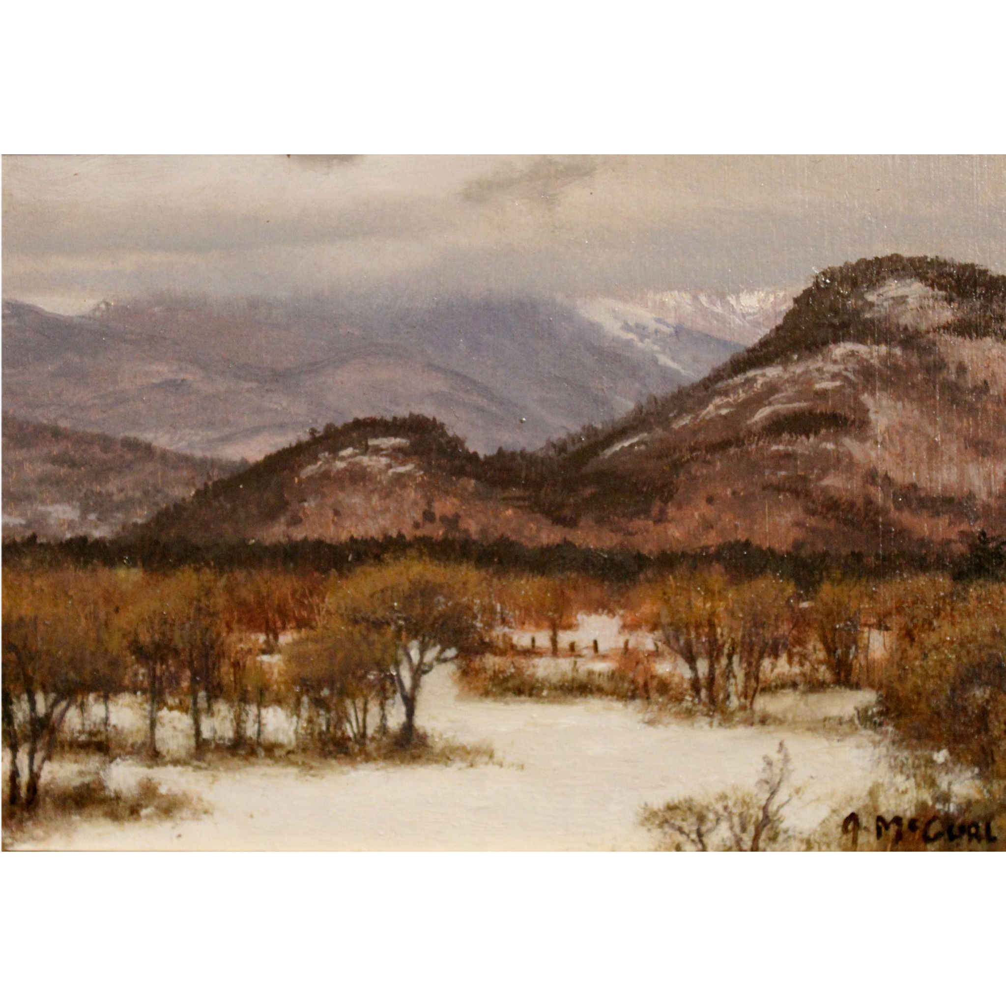 Joseph McGurl Plein Air Oil Painting - Mt. Washington Valley NH