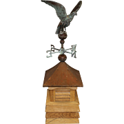 Copper Eagle Weathervane on Copper Roof Wooden Cupola
