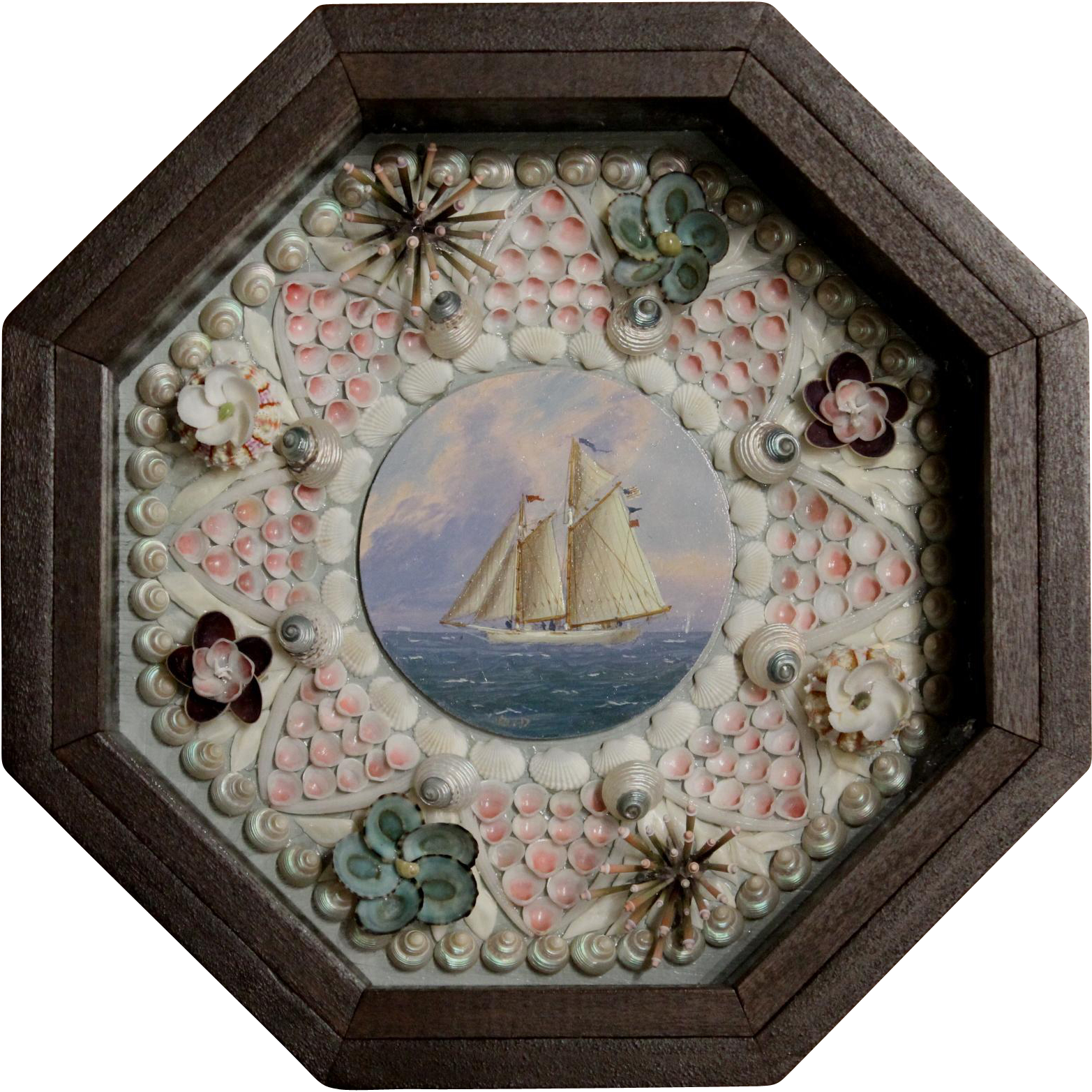 William R. & Judy Davis Sailor's Valentine with Schooner