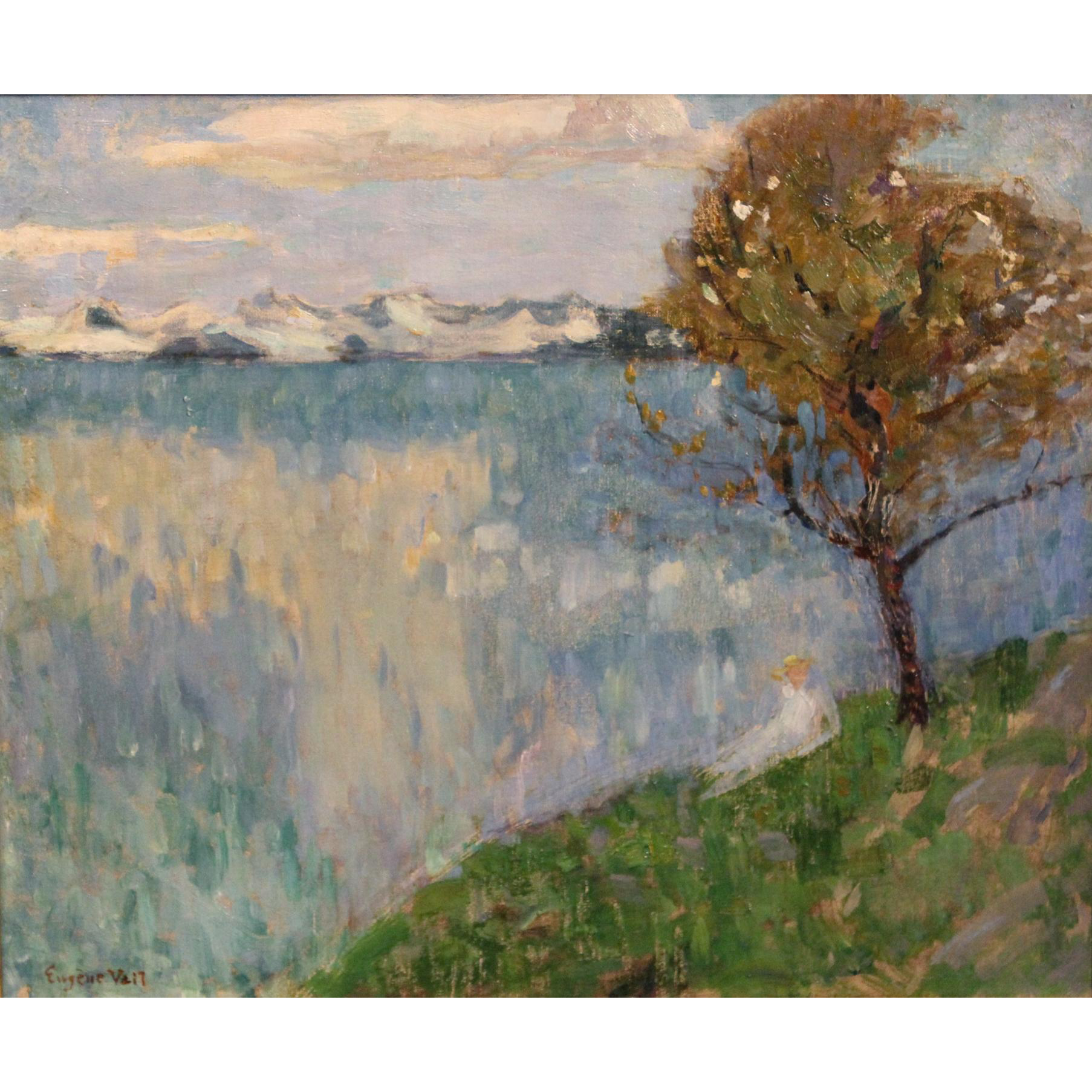 Eugene Vail Landscape Oil Painting - By Quiet Waters circa 1905