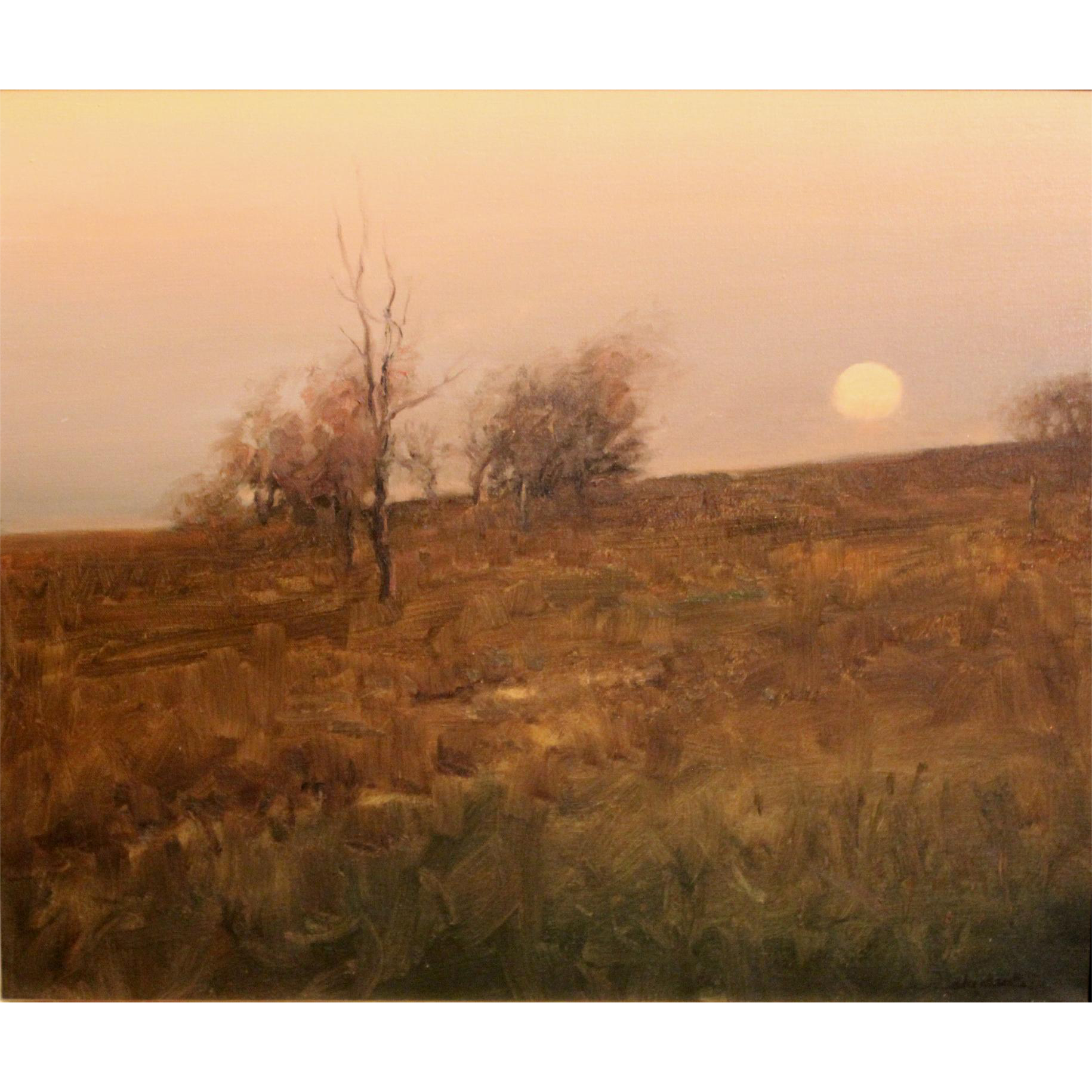 Dennis Sheehan Tonalist Landscape Oil Painting - Sunset