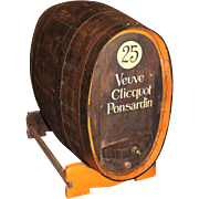 French Oak Wine or Champagne Barrel / Cask on Stand