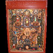 Rafael Alvarez Diaz Mexican Mixed Media Mosaic Box