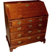 18th c New England Chippendale Mahogany Fall Front Desk