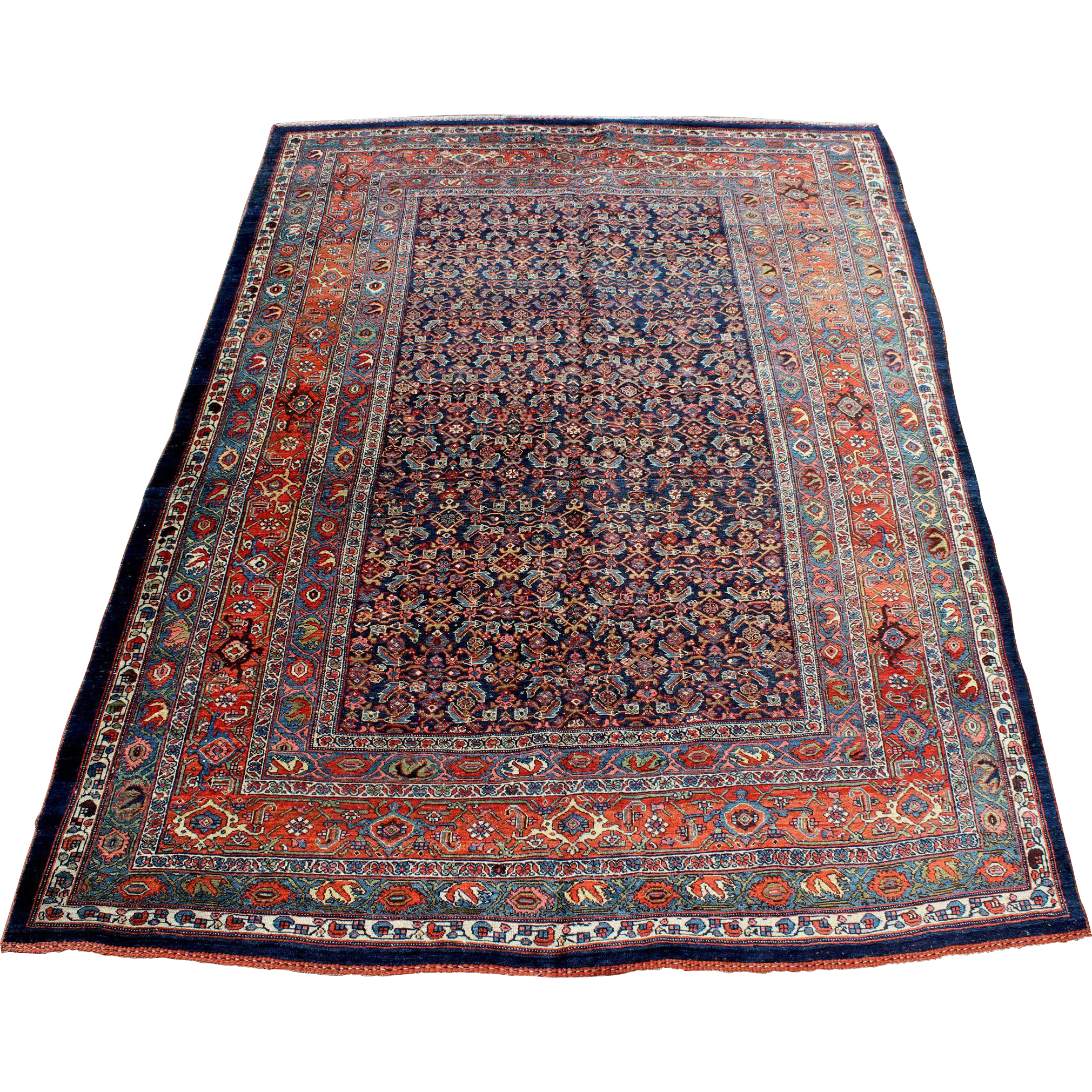 Kurdish Bidjar Handwoven Oriental Rug, circa 1900