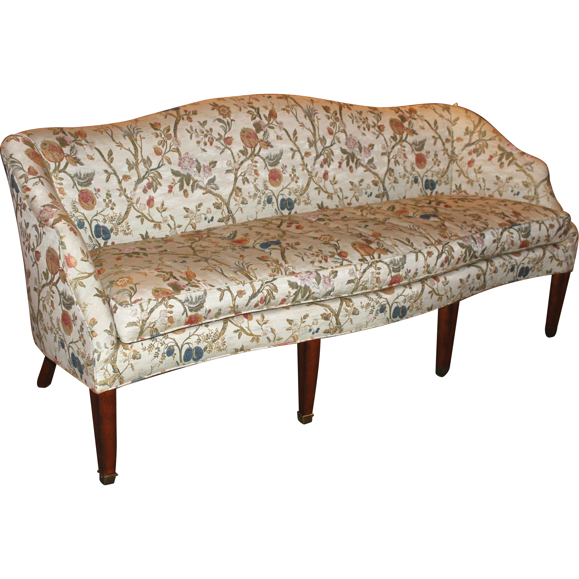 Edward ferrell lewis mittman hepplewhite style sofa with for Edward ferrell lewis mittman