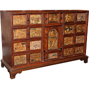 18th / 19th c Dutch Rosewood Collector's Cabinet or Wunderkammer