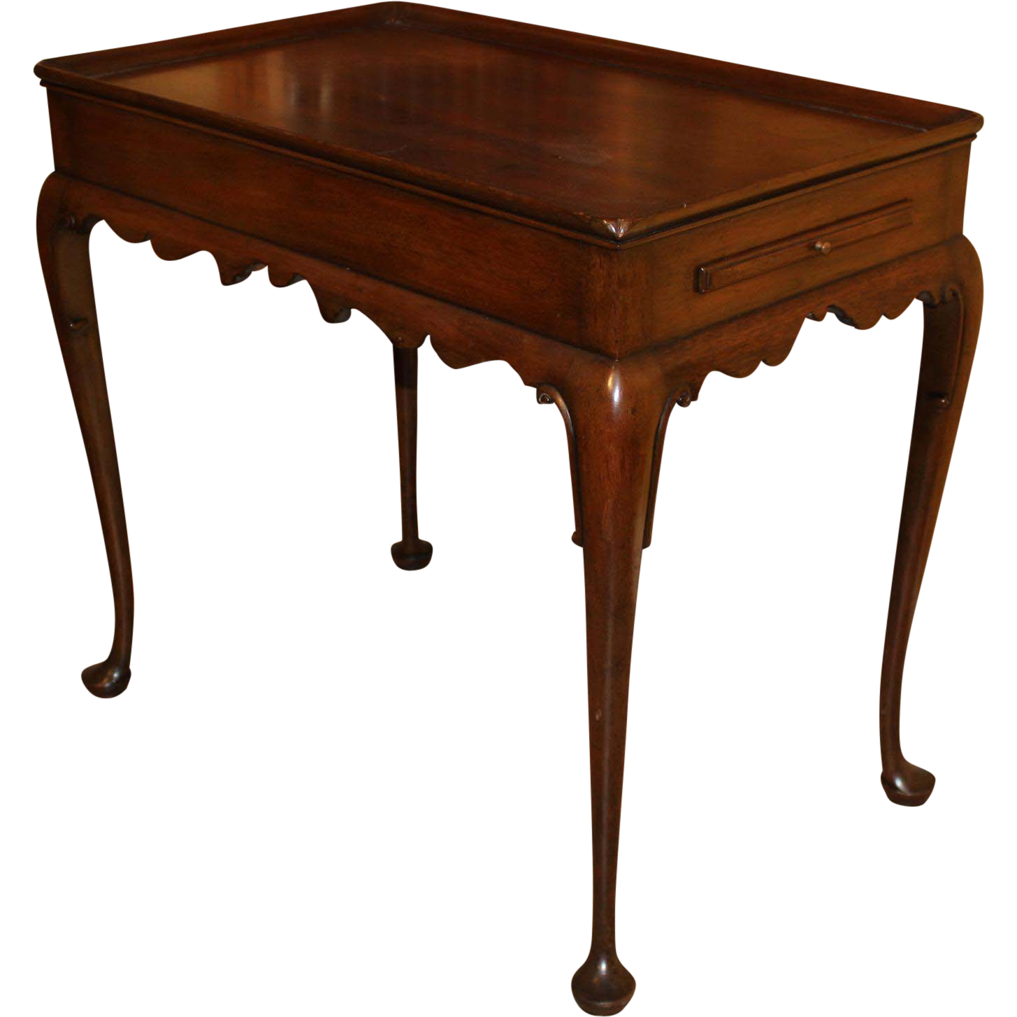 Kittinger Colonial Williamsburg Queen Anne Style Mahogany Tea Table