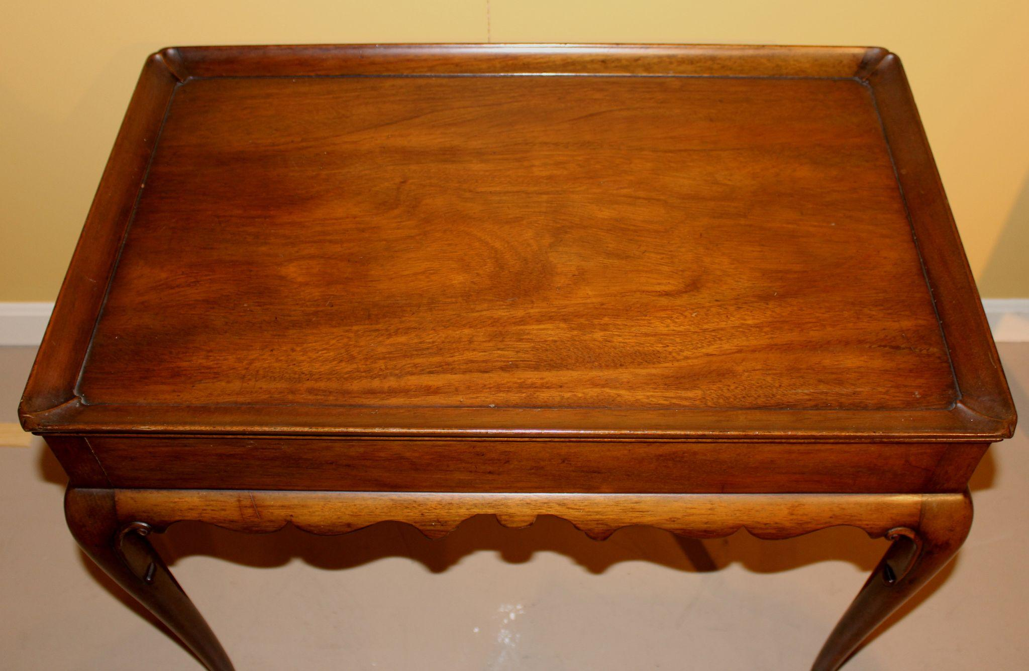 Kittinger Colonial Williamsburg Queen Anne Style Mahogany Tea