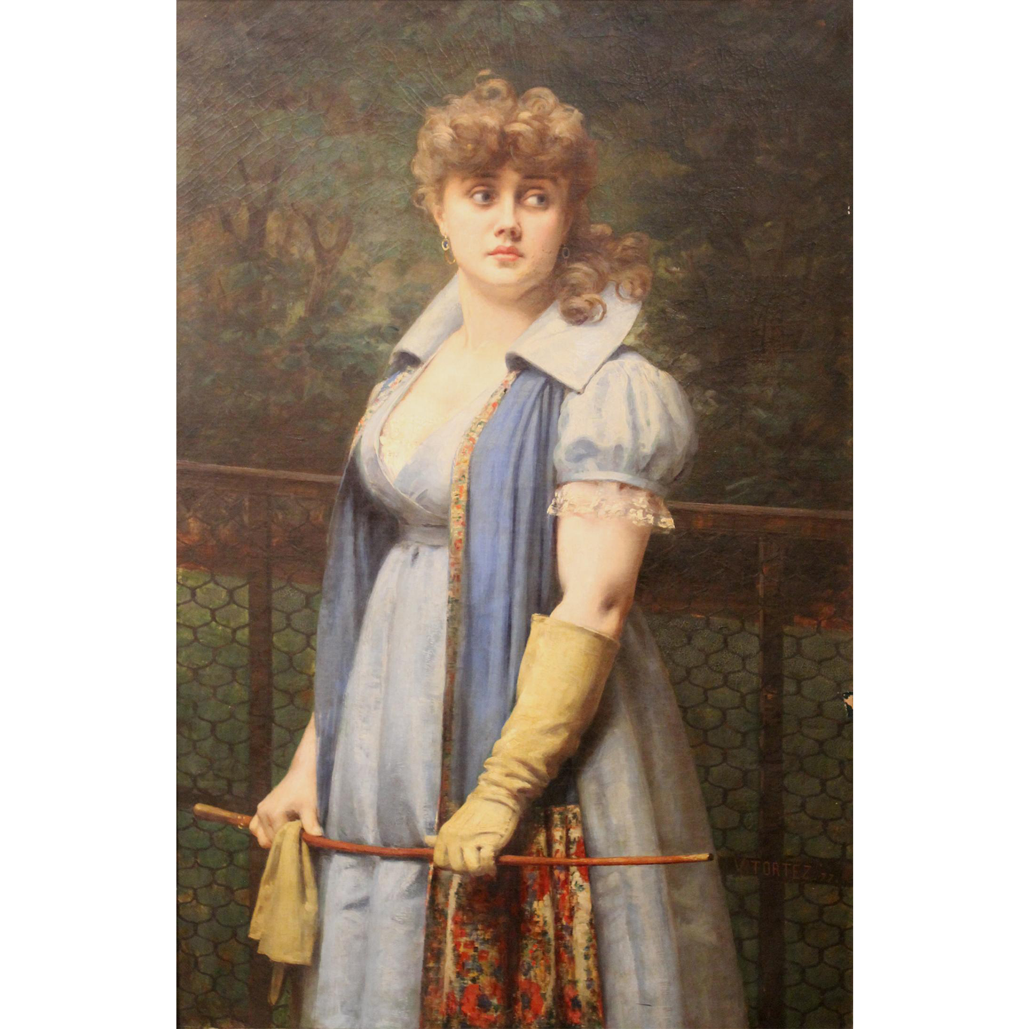 Victor Viktor Tortez Portrait of a Girl With Riding Crop 1877