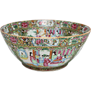 19th Century Chinese Export Rose Medallion Bowl