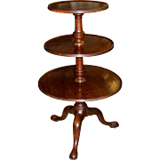 English George III Mahogany Three Tier Revolving Dumbwaiter circa 1775
