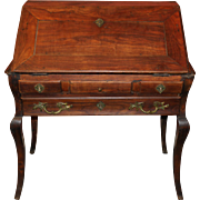 18th Century Italian Walnut Ladies Desk with Cabriole Legs