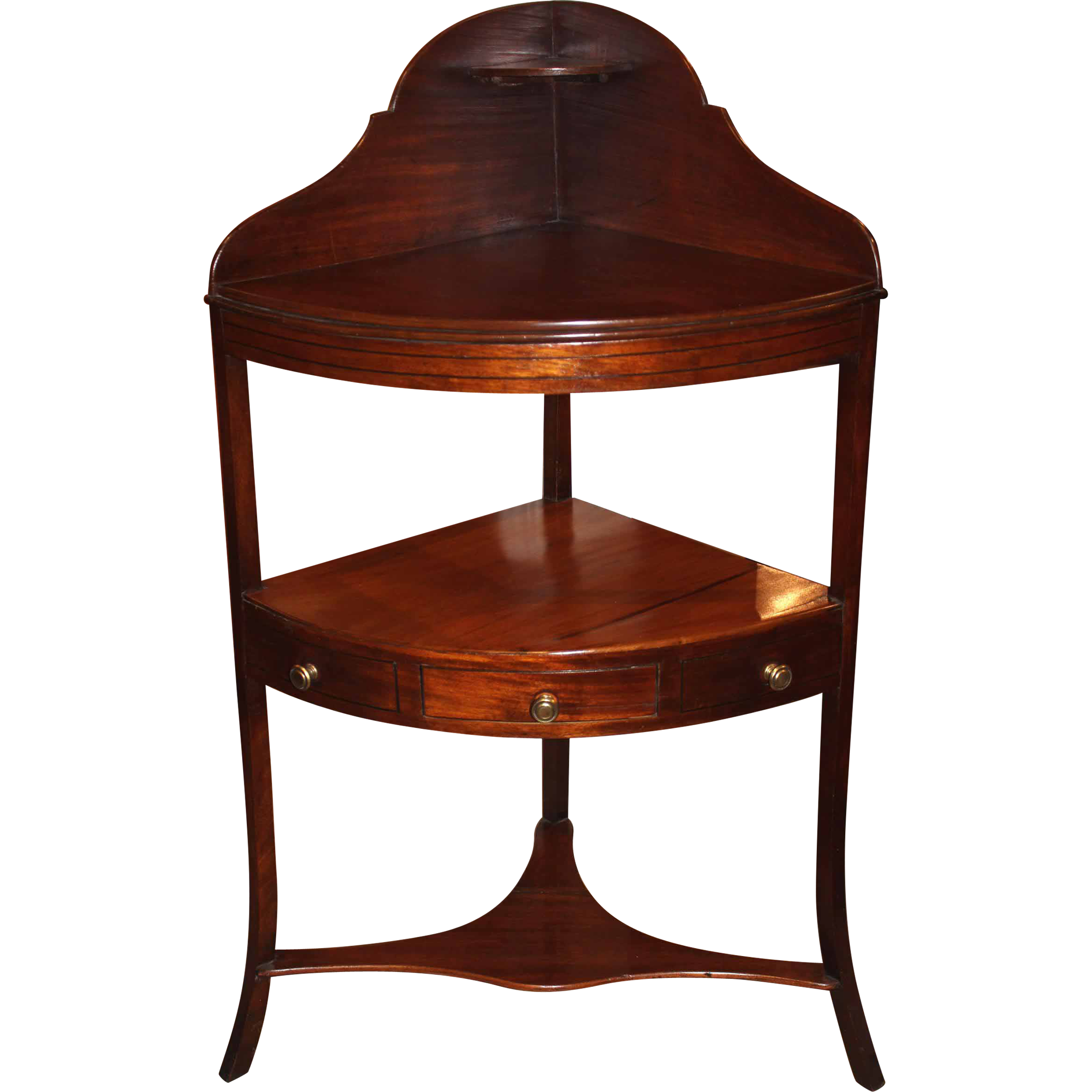 19th c English Regency Mahogany Corner Wash Stand