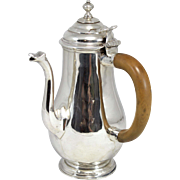 John East English Sterling Chocolate Pot circa 1712