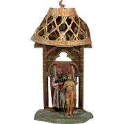 Vienna Bronze Polychrome Orientalist Lamp with Figures
