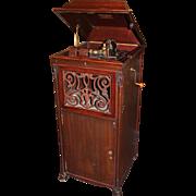 Edison Amberola Model A Type SM Mahogany Case Cylinder Phonograph circa 1910-1914