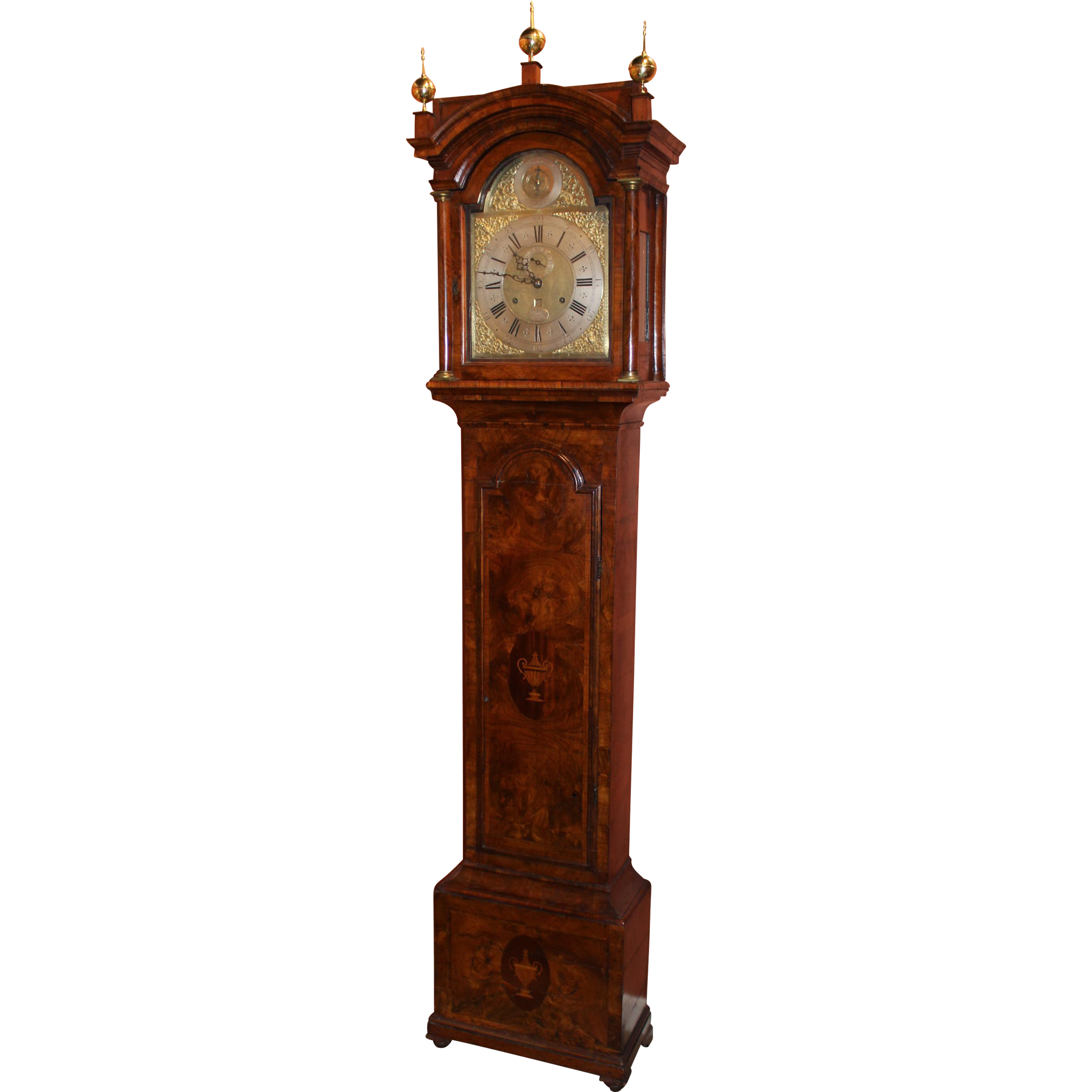 William Webster English Tall Case Clock with Rare 30 Day Movement, circa 1740