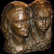 Fiore de Henriquez Large Bronze of Two Women 1970