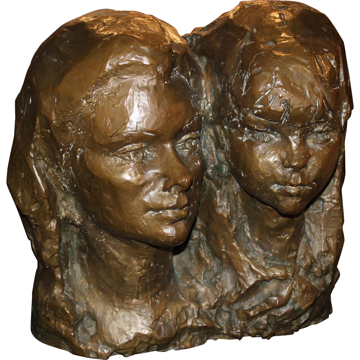 Fiore de Henriquez Large Bronze of Two Women 1970