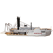 "Large Wooden Model of Mississippi Steamboat ""Robert E. Lee"" by Peter Nadrowski"