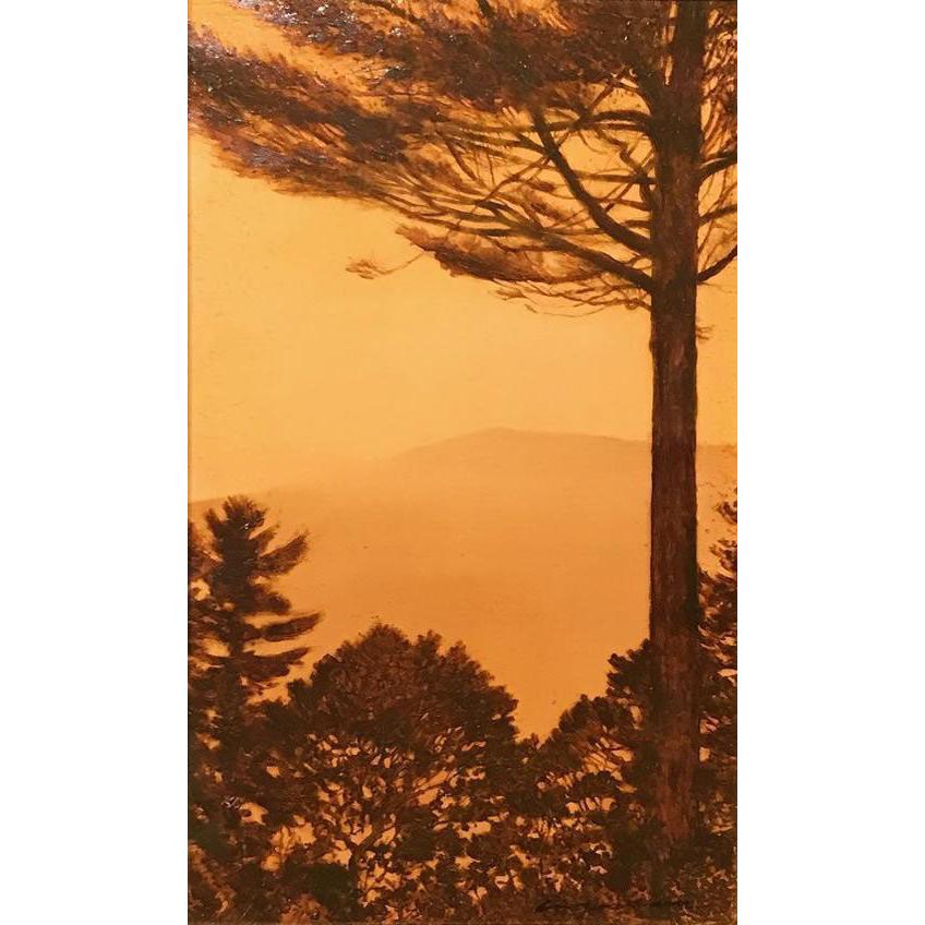 Erick Ingraham Oil Painting NH Landscape - Shrouded Monadnock