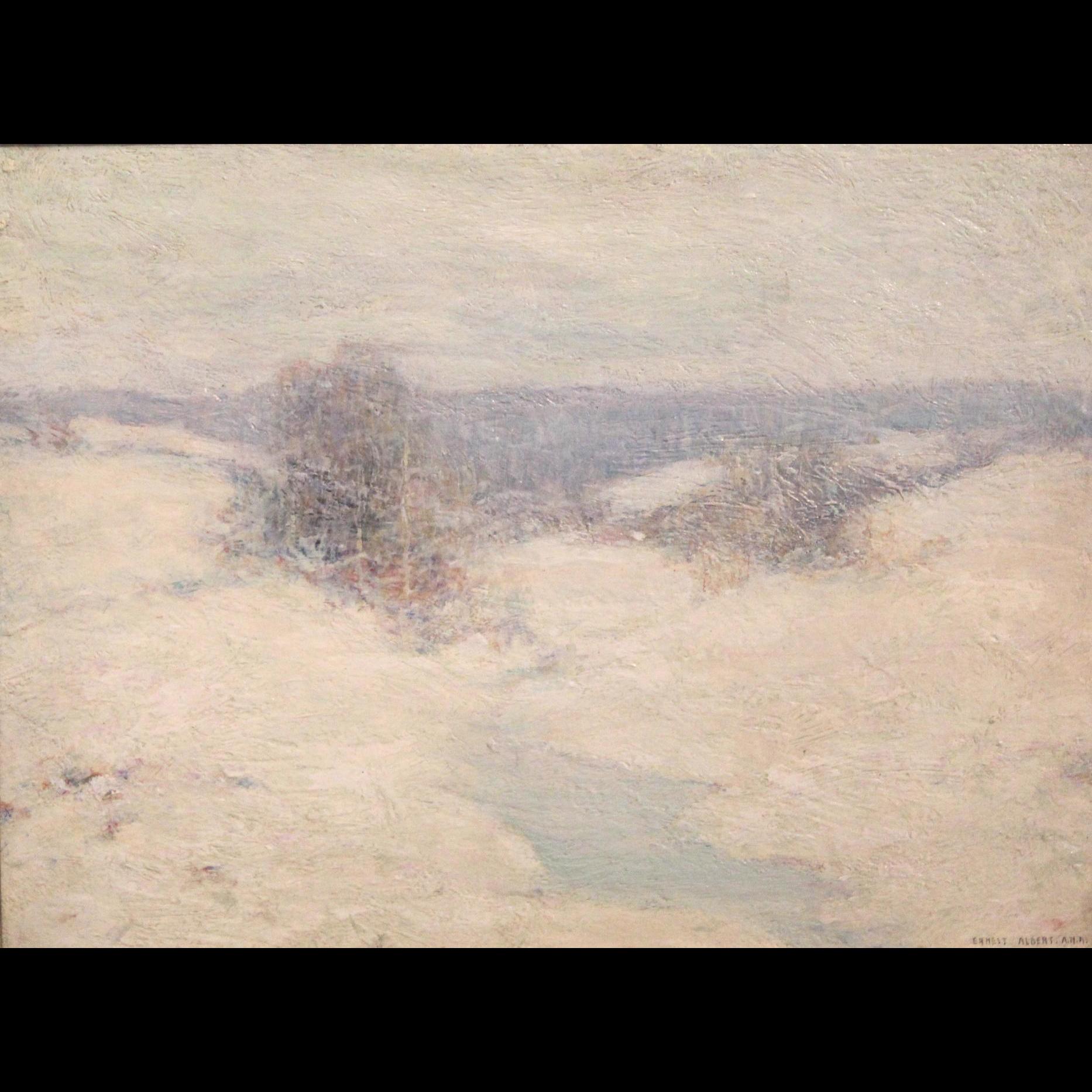 Ernest Albert Impressionist Oil Painting - Snowstorm
