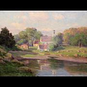 Alice Roney Hardwick Landscape Oil Painting - Annisquam View