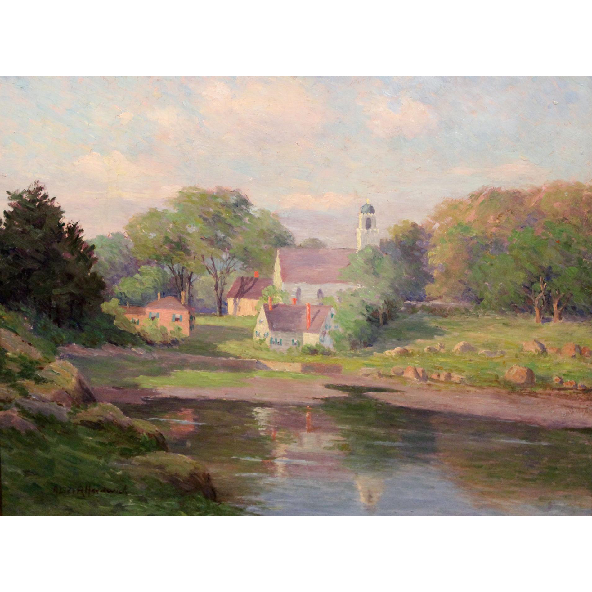 Alice Roney Hardwick Landscape Oil Painting - Annisquam View