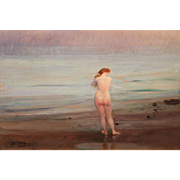 Herman Jean Joseph Richir Impressionist Oil Painting of a Nude Woman
