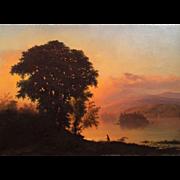 Ferdinand Alexander Wust Hudson River Luminist Landscape